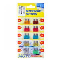 Bezpieczniki samochodowe MIDI zestaw 10szt.-blister