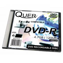 DVD-R QUER 4.7GB/16x slim case 1szt