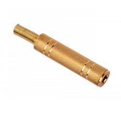 Gniazdo Jack 6.3mm st.met.kab.złote