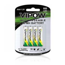 Baterie Ni-MH AAA 800mAh 4szt/bl, blister