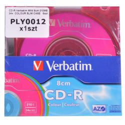 CD-R VERBATIM MINI 8cm 210MB 24x colour slim case 5szt