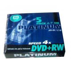 DVD+RW x4 4,7GB PLATINUM/SLIM 5szt., 5sztuk