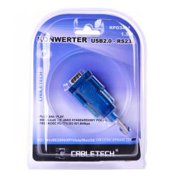Kabel konwerter USB 2.0 - RS232 (DB9M)