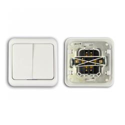 Wyłącznik podwójny schodowy 10A/250V LK82018
