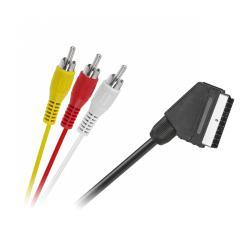 Kabel EURO - 3 x RCA 1,5m