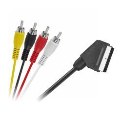 Kabel EURO - 4 x RCA 1,2m