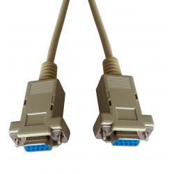 Kabel komputerowy DB9 gniazdo-gniazdo 3m null modem