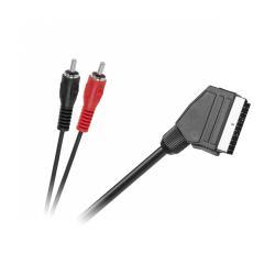 Kabel EURO-2 x RCA 3,0m AUDIO