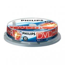 DVD+R PHILIPS 8,5GB 8X DOUBLE LAYER CAKE 10szt .