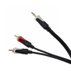 Kabel 3.5 wtyk stereo - 2RCA audio 5.0m Cabletech Basic Edition