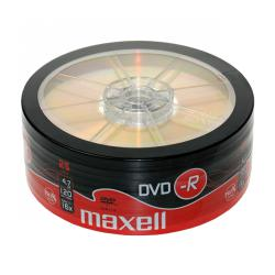 DVD-R MAXELL 4,7 GB 16x SP.25szt