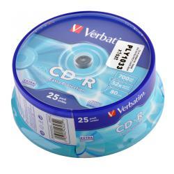 CD-R VERBATIM 700MB 52X EXTRA PROT. CAKE 25szt