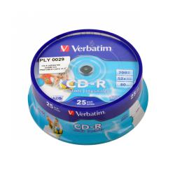 CD-R VERBATIM 700MB 52x PRINTABLE CAKE 25szt.