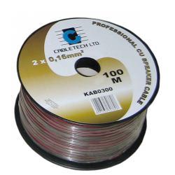 Kabel głośnikowy 0,2mm czarny, rolka