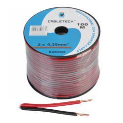 Kabel głośnikowy CCA 0.35mm czarno-czerwony, rolka