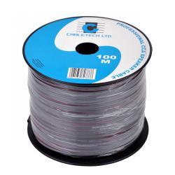 Kabel głośnikowy CCA 0.50mm czarny, rolka