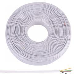Kabel telefoniczny 4C biały 100m, rolka