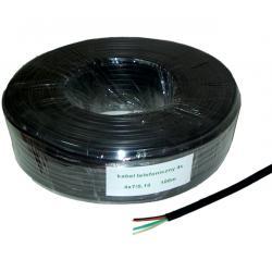 Kabel telefoniczny 4C czarny 100m, rolka