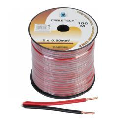 Kabel głośnikowy 0,5mm czarno-czerwony, rolka