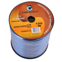 Kabel głośnikowy 0,75mm niebieski, rolka