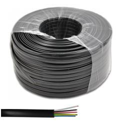 Kabel telefoniczny 6C czarny 100m LX514