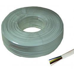 Kabel telefoniczny 6C biały 100m LXK513, rolka