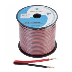 Kabel głośnikowy CCA 1.5mm czarno-czerwony, rolka