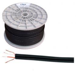 Kabel 2 x RCA-3mm czarny, rolka