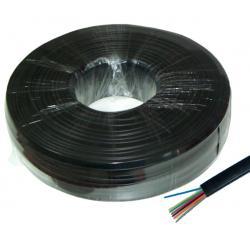 Kabel telefoniczny 8C czarny, rolka