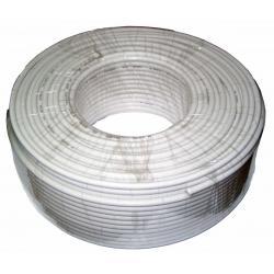 Kabel koncentryczny 3c 2v biały, rolka