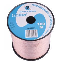 Kabel głośnikowy CCA 2.0mm, rolka