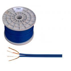 Kabel 2 x RCA-4mm niebieski, rolka