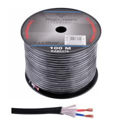 Kabel głośnikowy okrągły AZUSA 1.5mm + bawełna, rolka