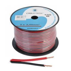 Kabel głośnikowy CCA 2.5mm czarno-czerwony, rolka