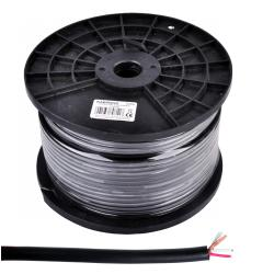 Kabel mikrofonowy stereo 6mm czarny, rolka