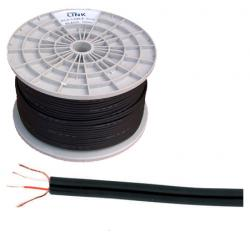 Kabel 2 x RCA-4mm czarny, rolka