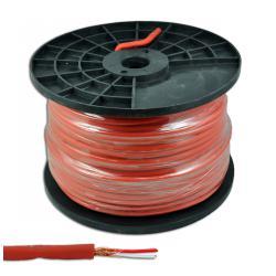 Kabel mikrofonowy stereo 6mm czerwony, rolka