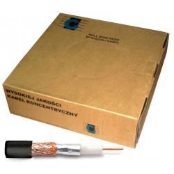 Kabel koncentryczny R-TV RG-59 200m/box czarny, rolka