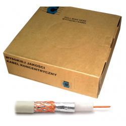 Kabel koncentryczny R-TV RG-59 200m/box biały, rolka