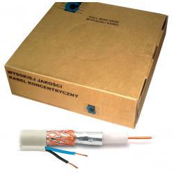Kabel koncentryczny R-TV RG-59 +2x0.5 100m, rolka