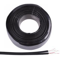 Kabel 2 x RCA-6mm czarny, rolka