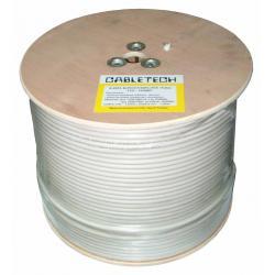 Kabel koncentryczny RG-6U CCS 305m, rolka