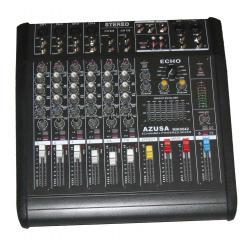 Mikser PMQ-2108+wzm. 2x240W 8 kanałów