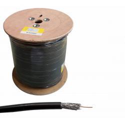 Kabel koncentryczny F690 BV+ŻEL CZARNY 305m, rolka