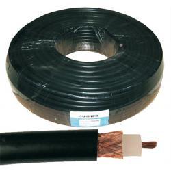 Kabel koncentryczny H1000 50 Ohm 100m czarny, rolka