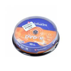 DVD-R VERBATIM 4,7GB 16X CAKE-10szt.