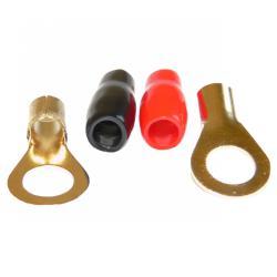Konektor M8/6GA(0-10mm2) wk oczkowy izol. czerw.+czar. KM58