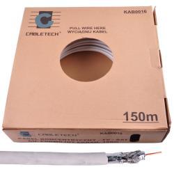 Kabel CABLETECH TV-SAT CU + podwójny ekran 150m/k., rolka