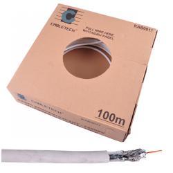 Kabel CABLETECH F690BV CU + podwójny ekran 100m/k., rolka