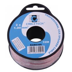 Kabel głośnikowy CCA 1.0mm 10M, rolka